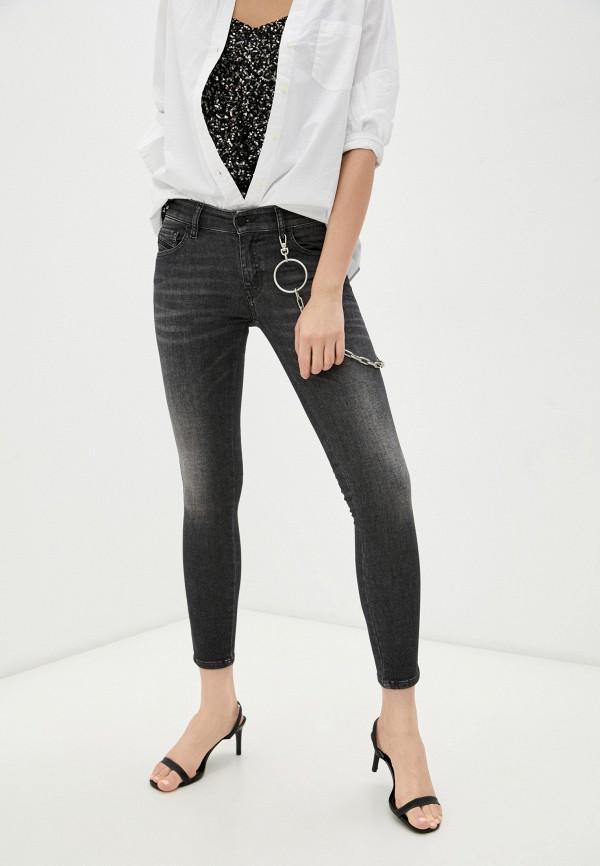 женские джинсы скинни diesel, серые