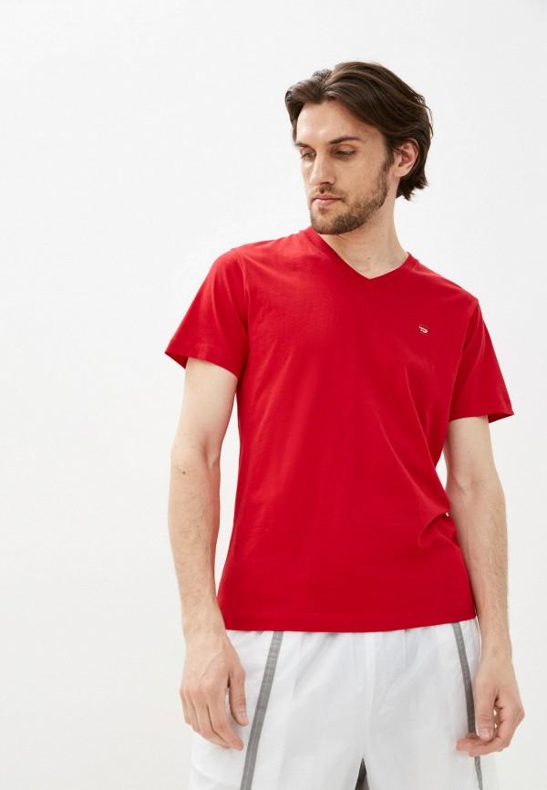 мужская футболка с коротким рукавом diesel, красная