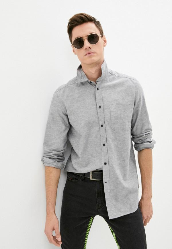 мужская рубашка с длинным рукавом diesel, серая