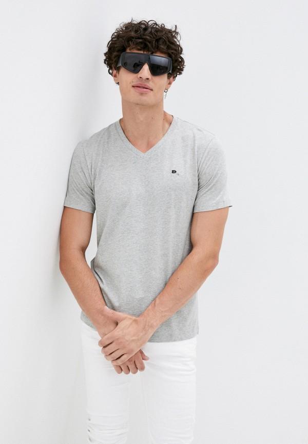 мужская футболка с коротким рукавом diesel, серая