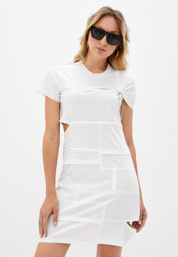 женское платье-футболки diesel, белое
