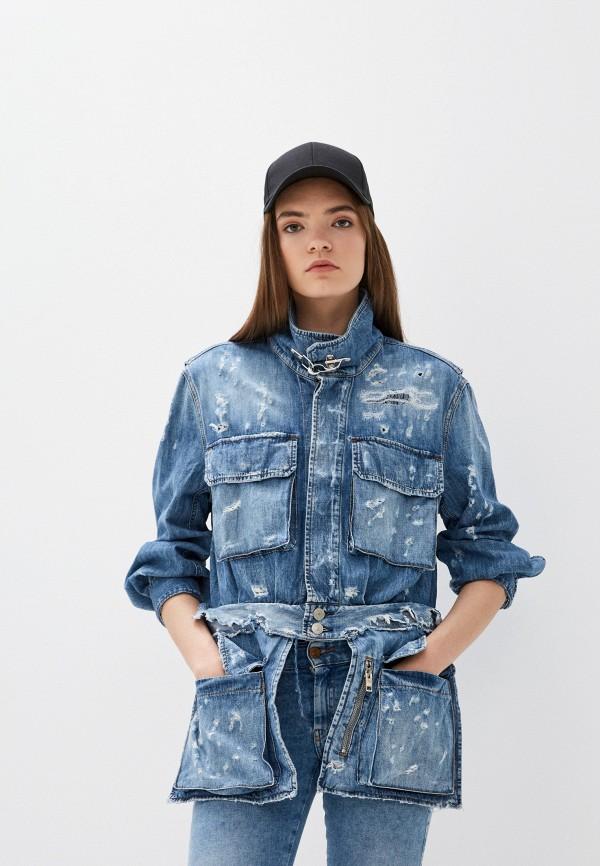 женская джинсовые куртка diesel, синяя