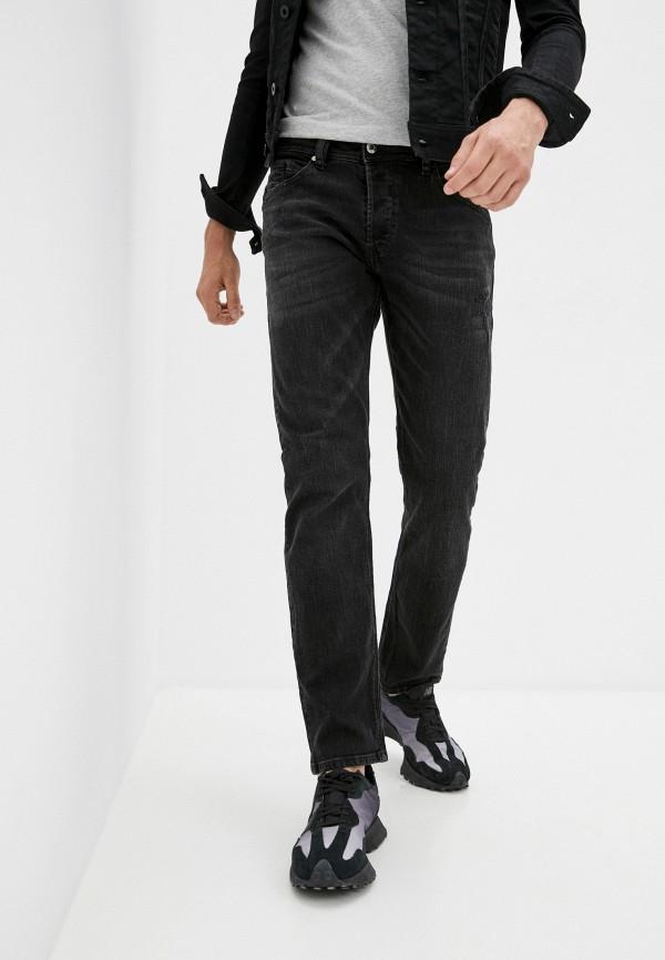 мужские зауженные джинсы diesel, черные