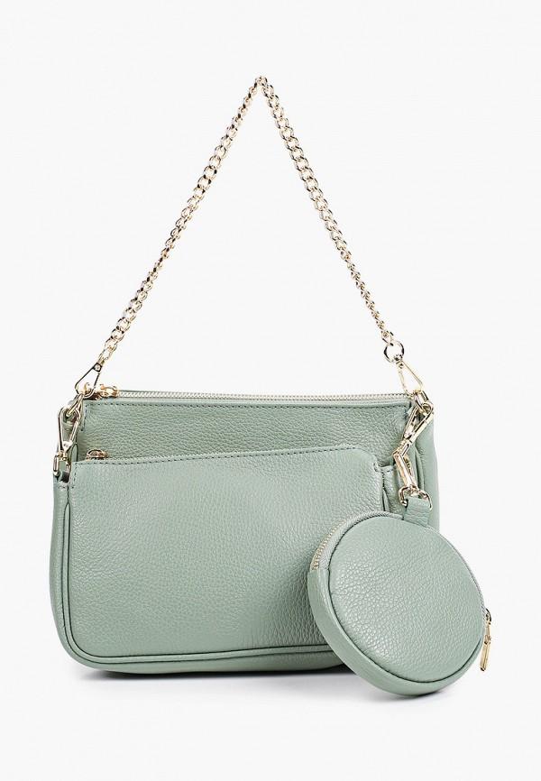 женская сумка через плечо luisa vannini, зеленая