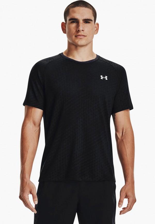 мужская футболка under armour, черная