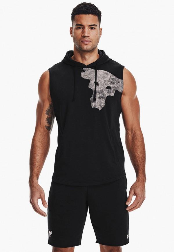 мужские худи under armour, черные