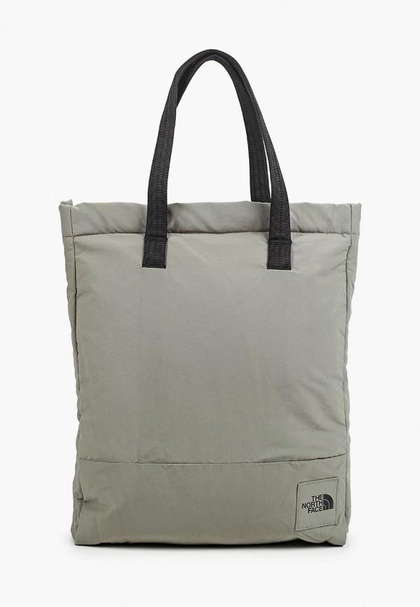 женская сумка-шоперы the north face, зеленая