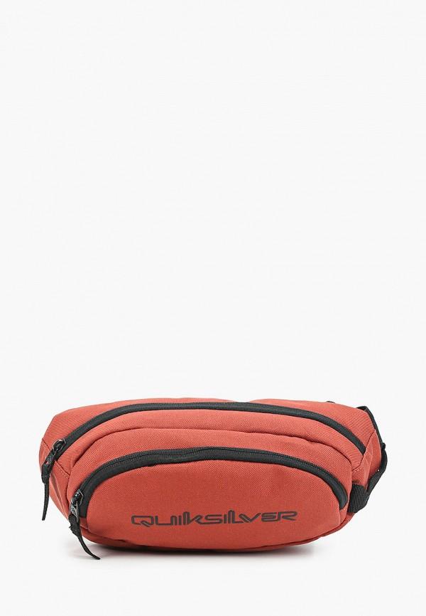 мужская сумка quiksilver, коричневая