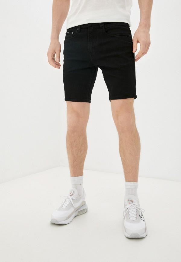 мужские джинсовые шорты quiksilver, черные