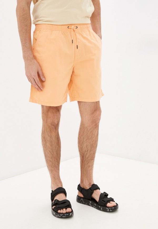мужские повседневные шорты quiksilver, оранжевые