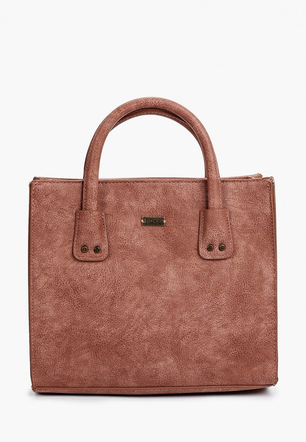 женская сумка с ручками roxy, розовая