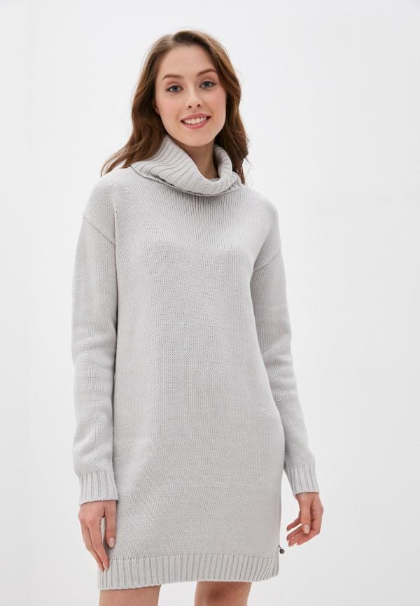 женское платье roxy, серое