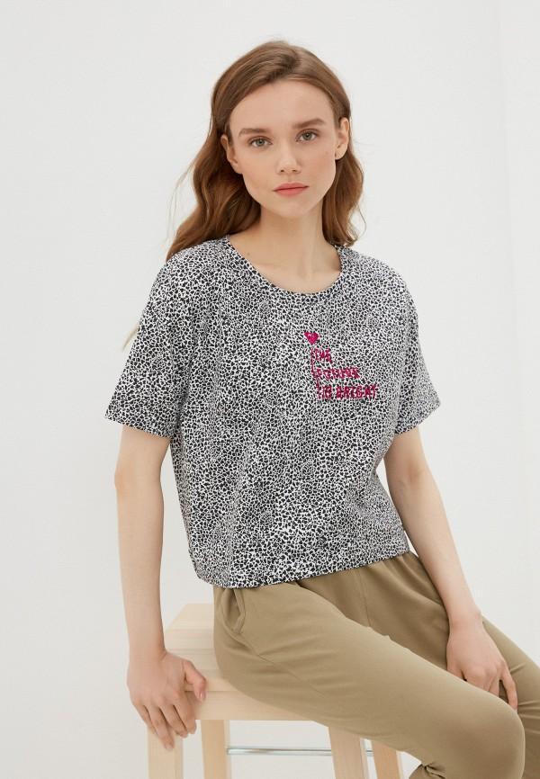 женская футболка roxy, разноцветная