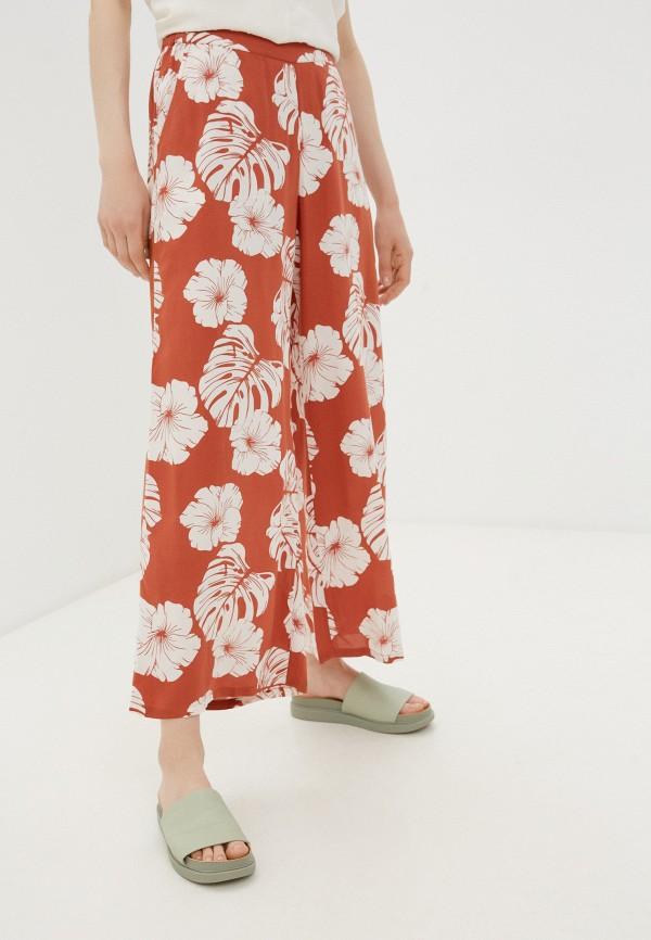 женские повседневные брюки roxy, оранжевые