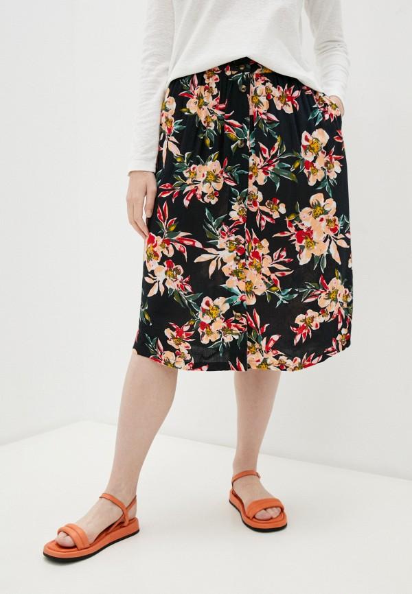 женская юбка-трапеции roxy, черная
