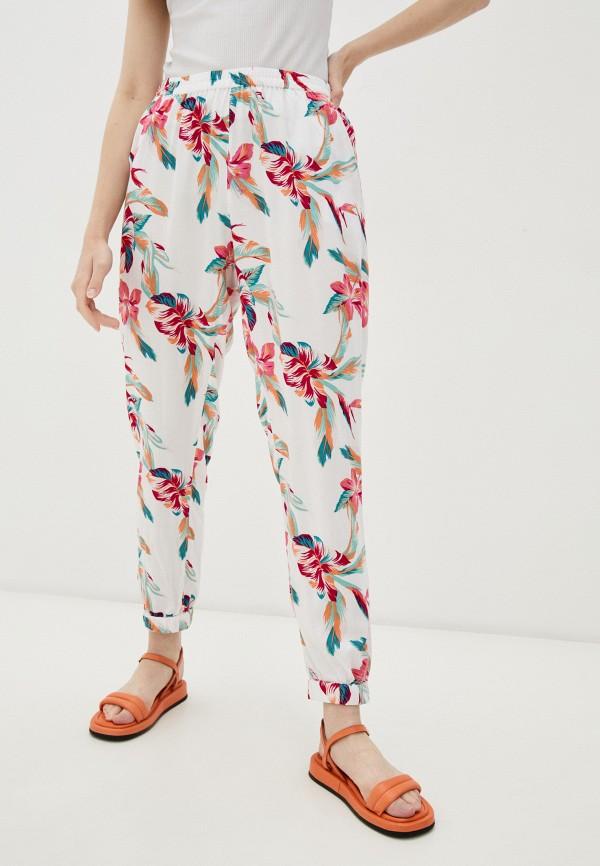 женские брюки джоггеры roxy, белые