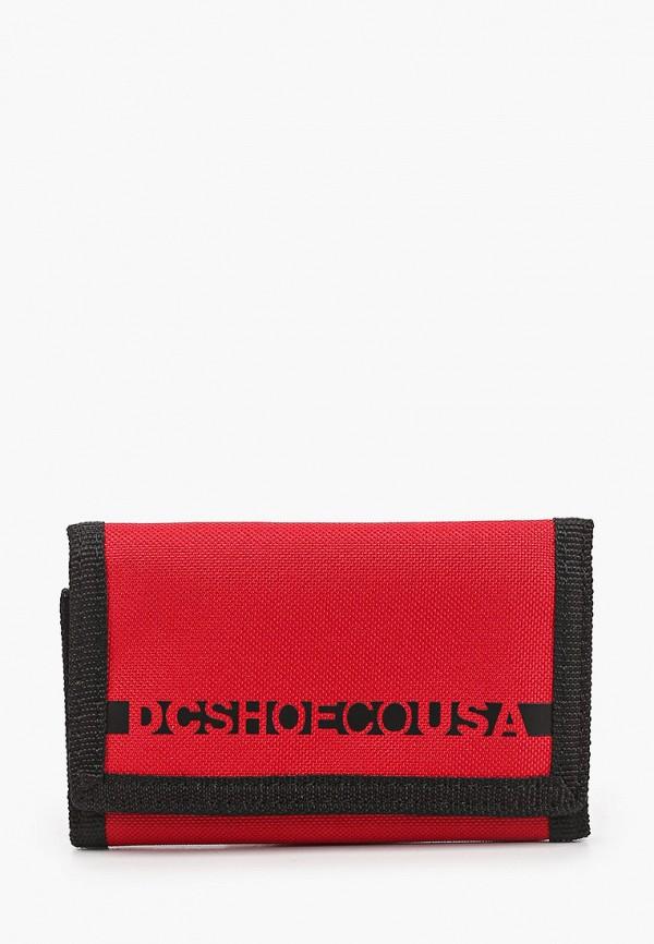 мужской кошелёк dc shoes, красный