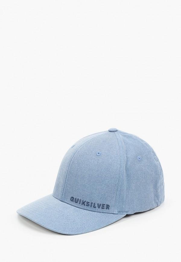 мужская бейсболка quiksilver, голубая