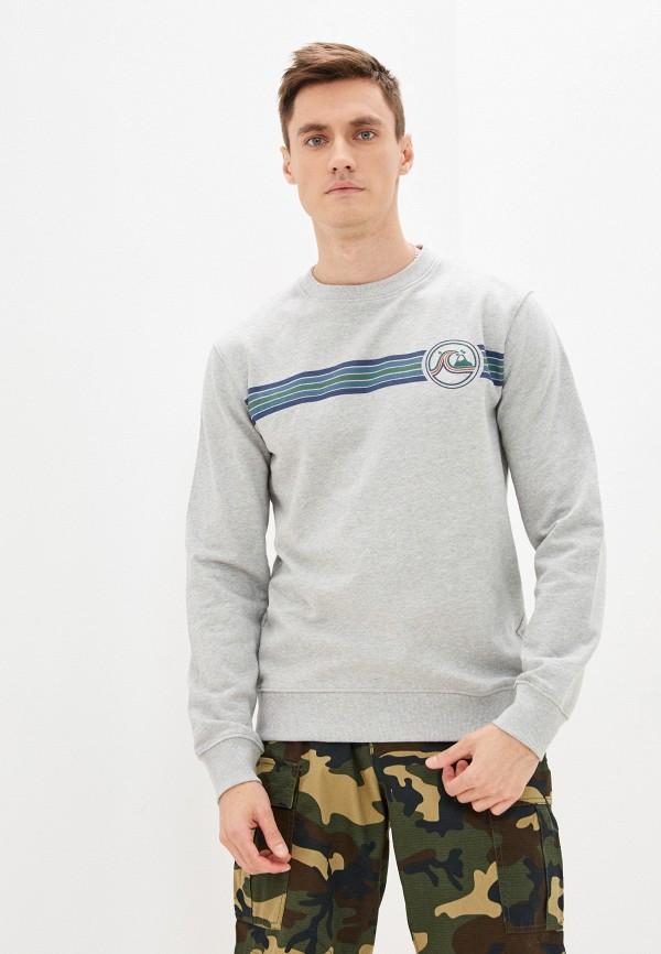 мужской свитшот quiksilver, серый