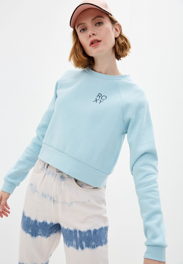 женский свитшот roxy, голубой