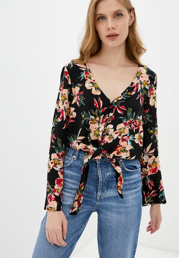 женская блузка roxy, черная