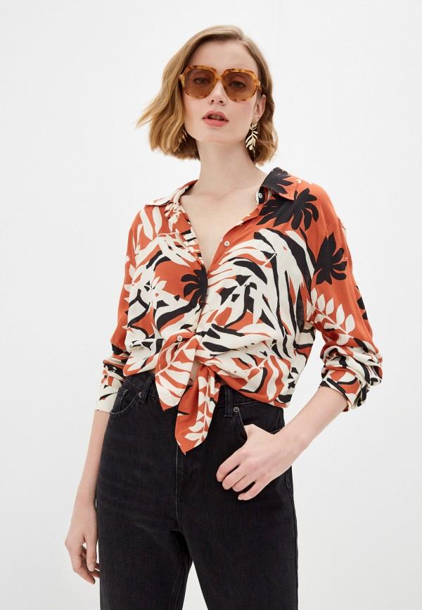женская блузка roxy, разноцветная
