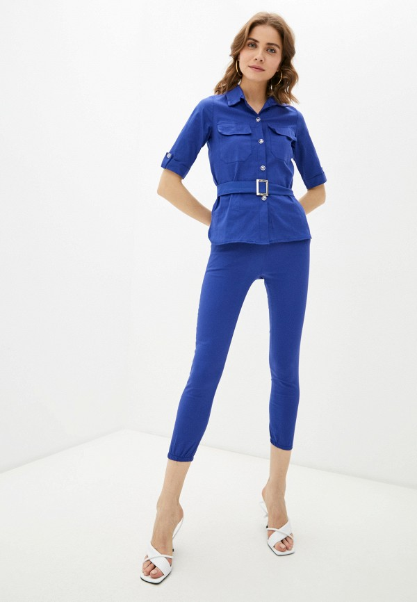 женский костюм pink summer, синий