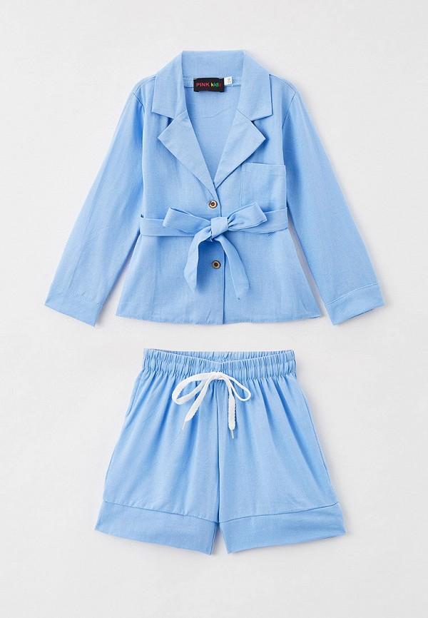 костюм pink kids для девочки, голубой