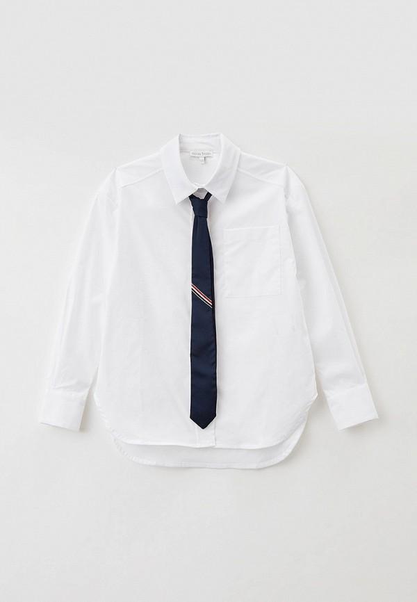 рубашка silver spoon для девочки, белая