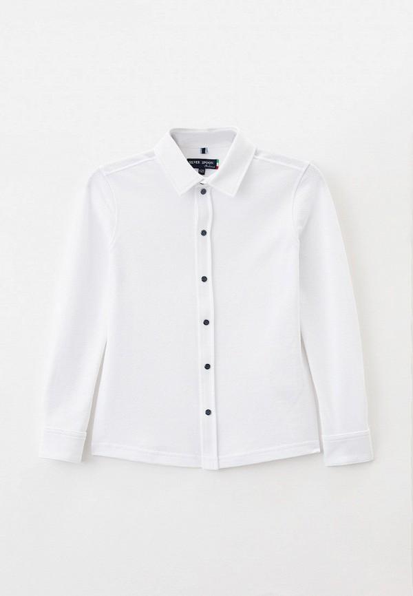 рубашка silver spoon для мальчика, белая