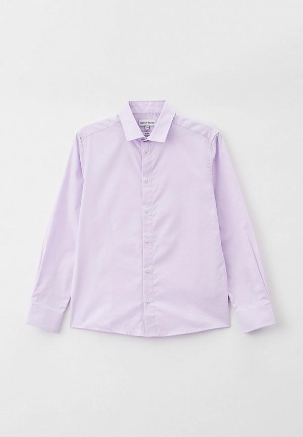 рубашка silver spoon для мальчика, фиолетовая