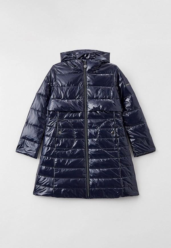 утепленные куртка silver spoon для девочки, синяя
