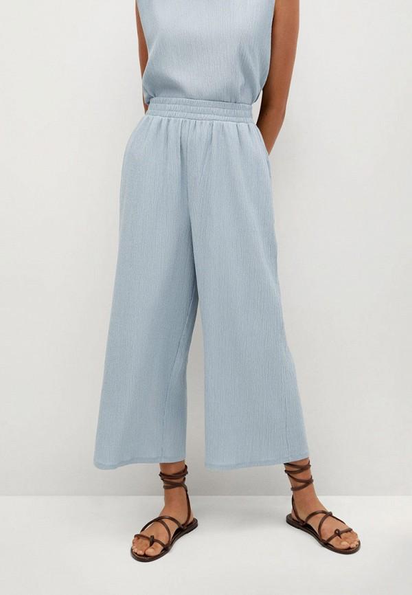 женские брюки mango, голубые