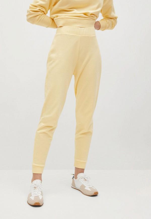 женские брюки mango, желтые