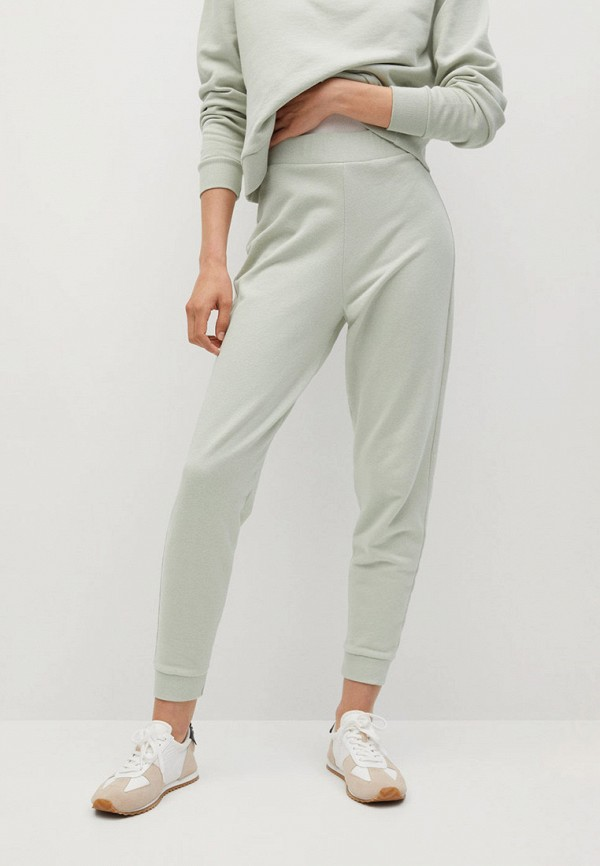 женские брюки mango, хаки