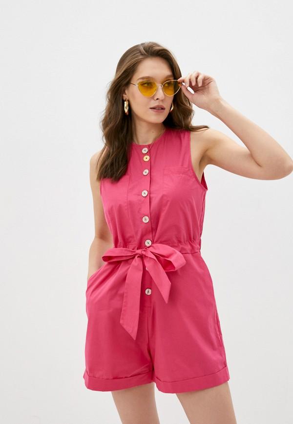 женский комбинезон mango, розовый