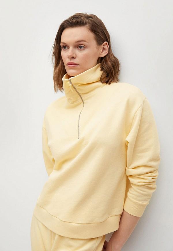 женский свитшот mango, желтый