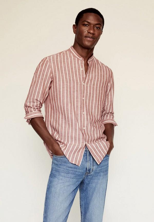 мужская рубашка с длинным рукавом mango man