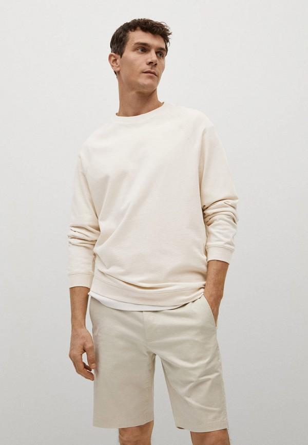 мужской свитшот mango man, белый