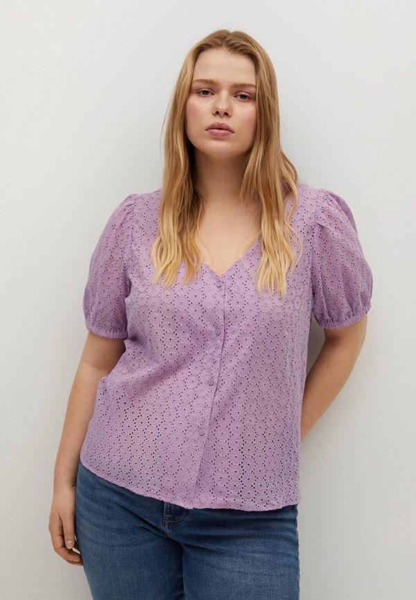 женская блузка violeta by mango, фиолетовая