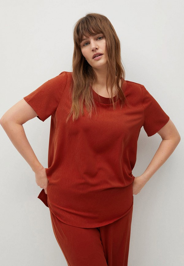 женская блузка violeta by mango, красная