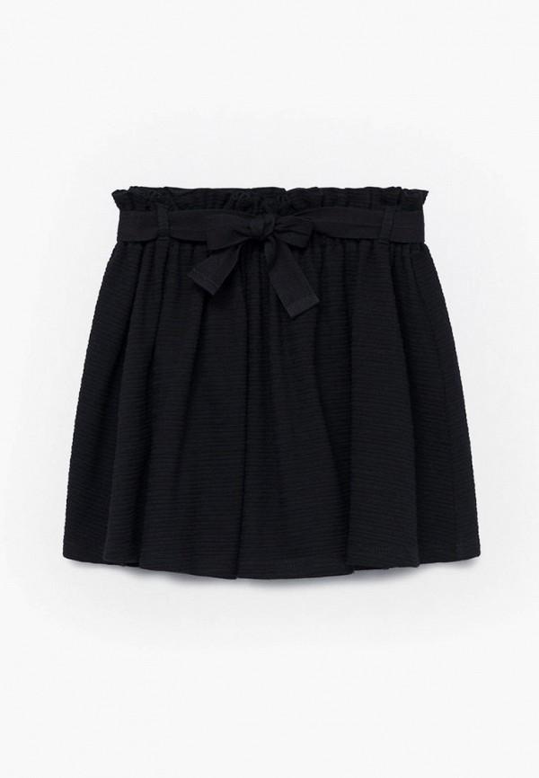юбка mango kids для девочки, черная