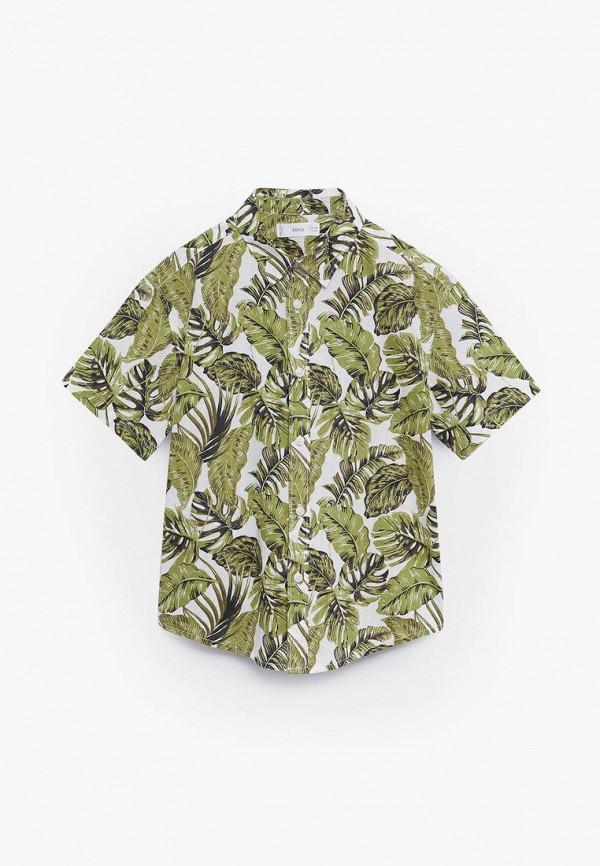 рубашка mango kids для мальчика, хаки