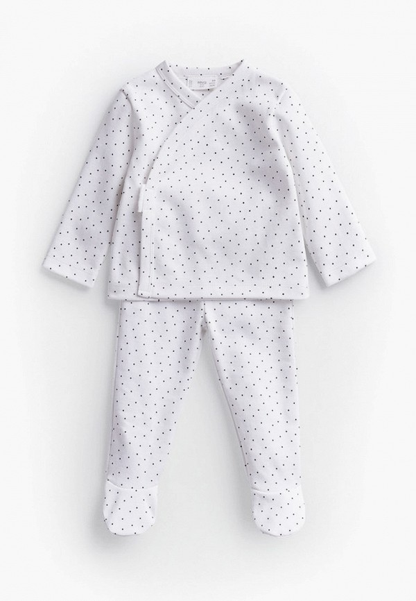 пижама mango kids малыши, белая