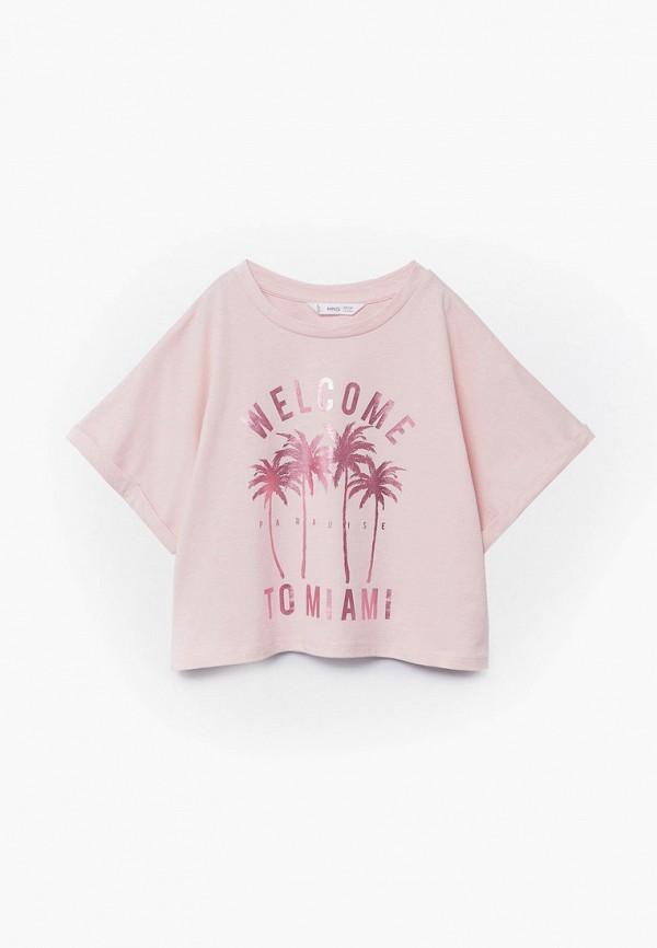 футболка mango kids для девочки