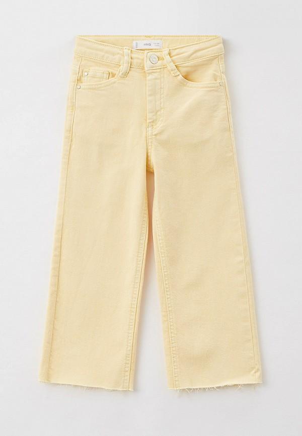брюки mango kids для девочки, желтые