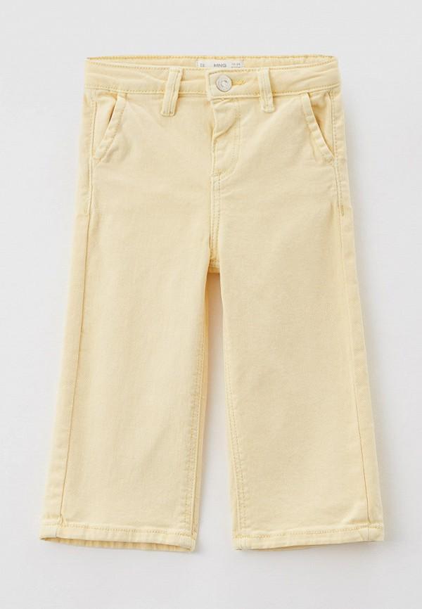 джинсы mango kids для девочки, желтые