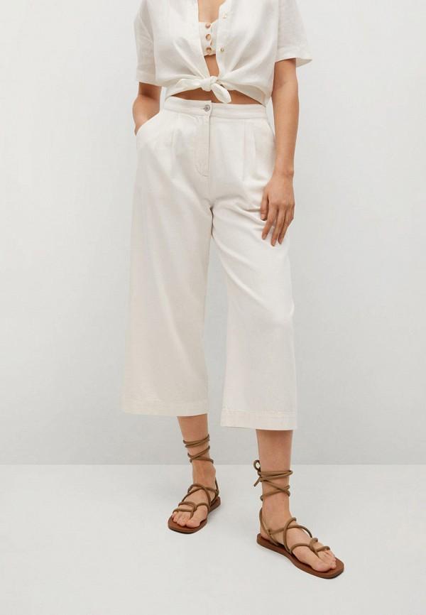 женские брюки mango, белые