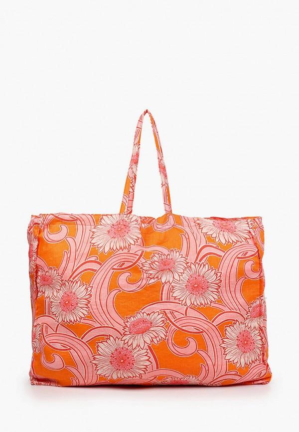женская пляжные сумка mango, оранжевая