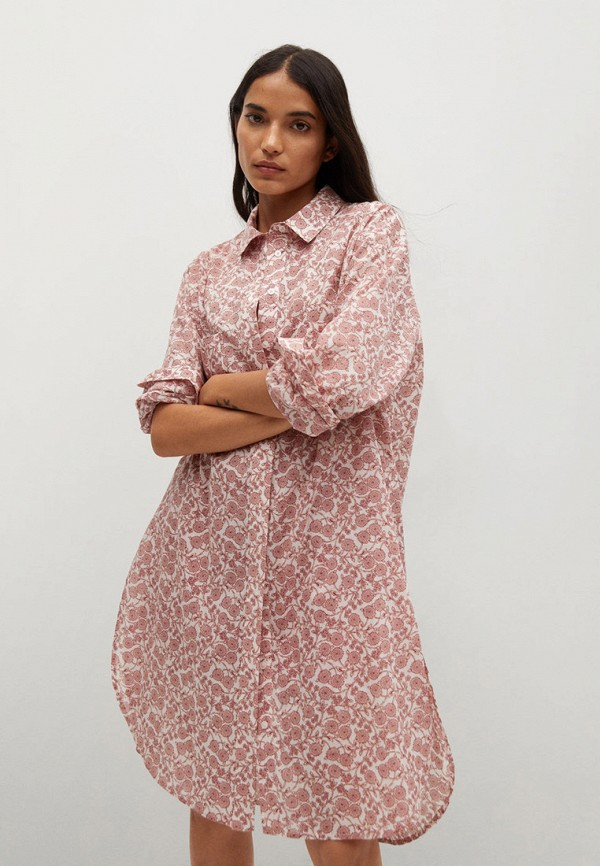 женская туника mango, розовая